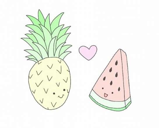 Картинки няшные фрукты