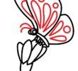 Как нарисовать бабочку на цветке?