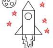 Как нарисовать ракету для детей
