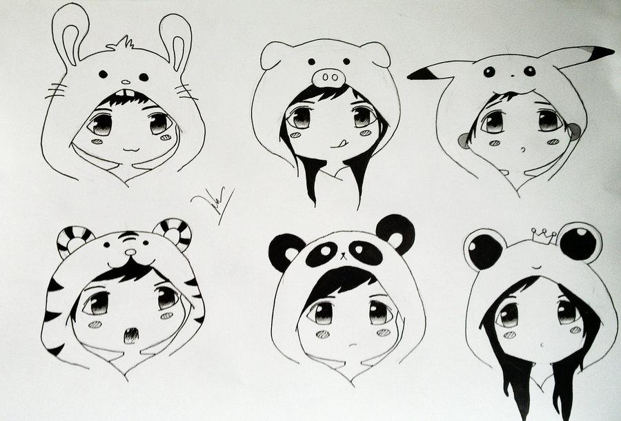 Картинки для срисовки в лд аниме легко